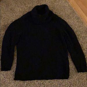 Karen Scott Black Cowneck Sweater